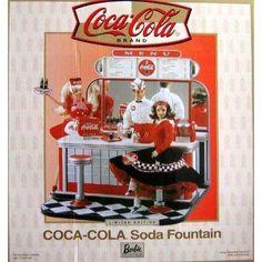 Mattel Barbie Coca Cola Soda Fountain Playset w Shipper - Barbie Collectibles (2000)