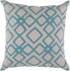 Divine Diamond Ivory/Aqua Pillow