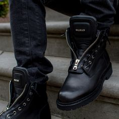 BALMAIN | NEW ARRIVALS | DERODELOPER.COM  The Balmain taiga ranger leather boots for the fall / winter 2016 collection.  Exclusively available in store!  FOR MORE SHOP ONLINE: WWW.DERODELOPER.COM
