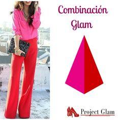 La creatividad es muy importante a la hora de vestirnos. Los bloques de colores son tendencia y este nos encanta, es muy glam. #color #combination #glam #projectglam