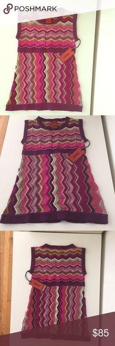 Missoni Passione Tunic Dress Gorgeous Missoni Tunic Dress. Part of the limited edition collection for Target that sold out in a flash. Passione purple zig zag print. The XL could fit a petite woman. NWT. Mint condition. I also have matching items listed as well. Missoni Dresses Casual
