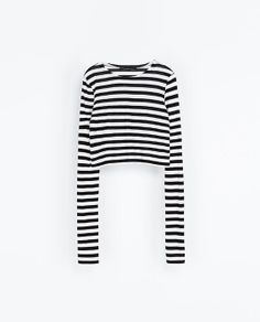 ZARA - NEW THIS WEEK - CROPPED STRIPED T-SHIRT