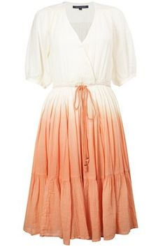 Dip Dyed Crinkle Cotton Dress