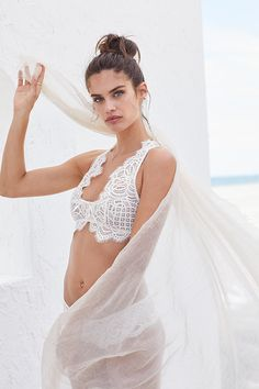 Laced up in lace. We <3 texture. | Victoria's Secret