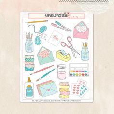 19 schattig Craft Supplies Stickers, Planner Sticker, kalender Sticker, Planner accessoires, Erin Condren, Filofax, Project Life