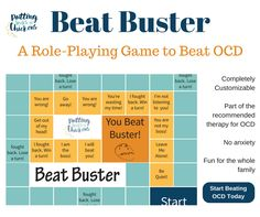 Therapy for OCD is recommended to help children take charge. This role-playing game makes therapy for OCD fun and teaches kids to boss back their OCD.