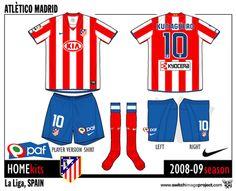 Football teams shirt and kits fan: Atletico Madrid shirts 2008-09 campaign by Nike