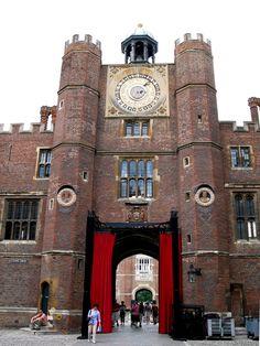 Hampton Court Palace - Clock tower at the Clock Court