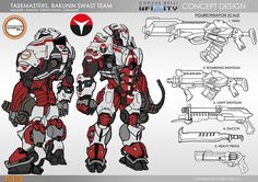 Infinity Exclusive: Taskmasters, Bakunin SWAST Team - Bell of Lost Souls Robot Concept Art, Armor Concept, Weapon Concept Art, Infinity Art, Infinity The Game, Overwatch, Sci Fi Armor, Futuristic Art, Suit Of Armor