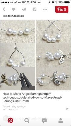 How to Make Pearl Beaded Earrings