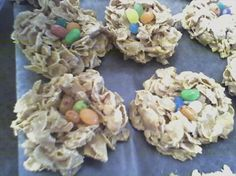 Easter Birds Nests (Peanut Butter Free) from Food.com:   								I got this wonderful recipe from Dina de Leon on my mom's website that I go to.  She posted it in a thread after asking about using PB in the recipe since it was going to her DC's school.  After she posted it, I asked if I could add it to my online cookbook.  She said yes so here it is.  Also, while I'm posting the pic of these super cute nests, I can't take credit for it.  Dina also took the picture.  Enjoy!