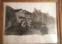 This #photo is a chalk #drawing I done of the #OldMill in the #SmokeyMountains #adcoleman