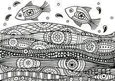 Adult coloring page Sea : Fishes 9
