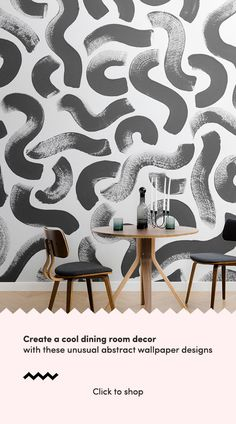 Add a fun new dimension to your wall with this black paint brush stroke wallpaper, a quirky design that is truly unique. Paint Wallpaper, Dining Room Wallpaper, Book Wallpaper, Wallpaper Murals, Modern Wallpaper, Designer Wallpaper, Inspirational Wallpapers, Room Interior, Nest