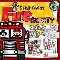 Fire Safety is an important message to teach our children, this set of math centers help you have a theme while teaching during Fire Safe Week with 5 Number Sense Activities. Included in your pack of Fire Safety Math Centers is: 2 Bump Games – these games need 10 cubes/counters per player and a spinner – this can be a plastic spinner or you can use a pencil and paper clip (put the pencil in the paper clip on the spinning disk and flick the spinner).