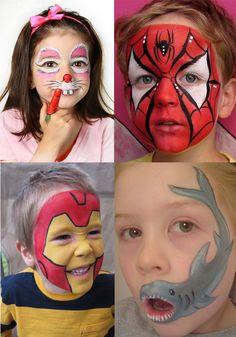 Детский грим на лице - фото грим для детей лицевой своими руками на сайте mamsy