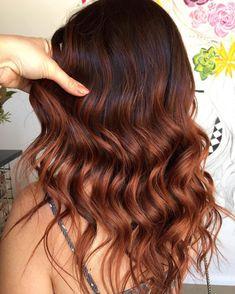 Reddish Brown Hair Color, Hair Color Auburn, Brown Blonde Hair, Auburn Hair, Brown Hair Colors, Red Balayage Hair, Hair Highlights, Ombre Hair, Hair Color For Women