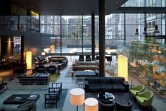 Love all the different conversation centers in this lobby of the Conservatorium Hotel in Amsterdam.  Designed by Piero Lissoni.