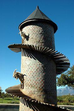 Goat Tower, Fairview, Stellenbosch, South Afirca. BelAfrique your personal travel planner - www.BelAfrique.com