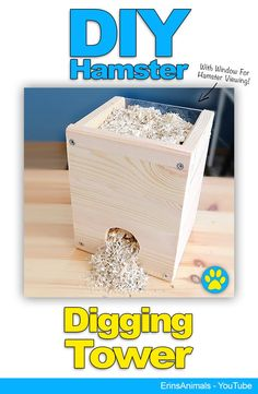 Small Pets DIY hamster digging tower also for mice, rats and other small rodents Diy Hamster Toys, Hamster Habitat, Hamster Life, Hamster Stuff, Best Hamster Cage, Diy Rodent Toys, Syrian Hamster Toys, Fancy Hamster, Chinchillas