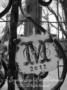 Hand Painted WOODEN LETTER M Ornament, Monogram Ornament, Personalized Ornament, Custom Ornament, Christmas Ornament, Family Ornament