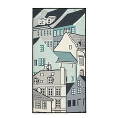 Kööpenhamina-matto, harmaa-aqua - ALE: Matot - ALE: Koti ja sisustus - ALE Hobby Hall
