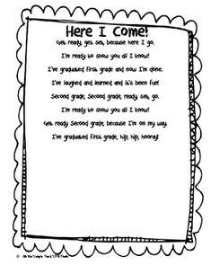Here I Come First Grade Poem! by Little Miss Kindergarten | Teachers Pay Teachers