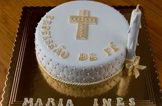 Bolos da Tia: Profissão de Fé Mini Tortillas, Religious Cakes, First Communion, Cake Design, Birthday Cake, Chocolate, Desserts, Food, Art Cakes
