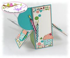 Card in a Box Video by Sandi @ www.stampingwithsandi.com