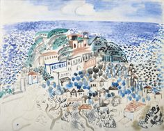 Raoul Dufy (French, 1877-1953), Village en bord de mer, 1922. Watercolour on paper, 50.5 x 64 cm.