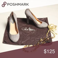 🆕💥HELP GET ME TO POSHFEST IN LA SALE💥 COLE HAAN SUEDE HEELS. EUC AND ONLY WORN A FEW TIMES. A GREAT ADDITION TO YOUR FALL OUTFIT🍁🍂 NO TRADES OR LOWBALL OFFERS. Cole Haan Shoes Heels