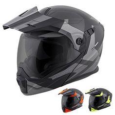 ScorpionEXO Unisex-Adult Modular/Flip Up Adventure Touring Motorcycle Helmet (Orange, XX-Large) (EXO-AT950 Neocon)