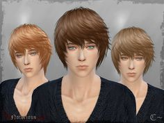 SimsSticle's Retexture / Edit Cazy`s hairstyle Short hairstyles for Males ~ Sims 4 Hairs