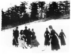 Canada, is the earliest snapshot ever taken of women playing hockey