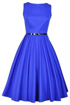 Elegant Blue Hepburn Dress - £40