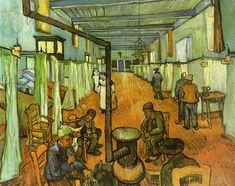 Ward in the Hospital at Arles, 1889, Vincent van Gogh Size: 92x74 cm Medium: oil on canvas
