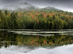 Fall Reflections In The Adirondack Mountains Photograph