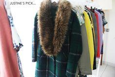 New Look Winter fur/ plaid coat. Plaid Coat, Fur Coat, Sequin Backpack, Winter Wonder, Winter Coat, New Look, Your Style, Winter Fashion, Sequins