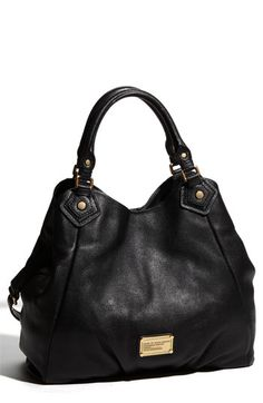 $538, Classic Q Francesca Leather Shopper New Black by Marc by Marc Jacobs. Sold by Nordstrom. Click for more info: http://lookastic.com/women/shop_items/147055/redirect