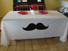 Mustache Party Table Cloth by theflutterfly on Etsy, $8.50