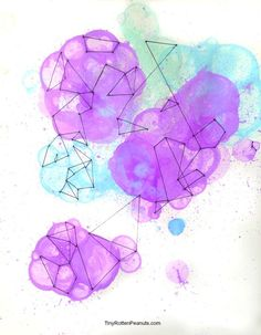 Cool Bubble Geometry Drawing Adapted From a Kids' Project