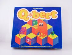 Vintage Qbert Game by Parker Brothers Retro 1980s Board Game  Great for Family Games Night by VintageFlicker