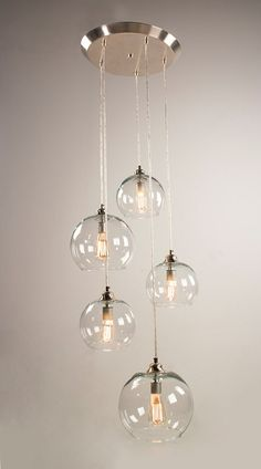 5 – Port Canopy Hanging Light Fixture – Brushed Nickel Finish - All For House İdeas Pendant Lighting Bedroom, Bedroom Light Fixtures, Hanging Light Fixtures, Kitchen Lighting Fixtures, Pendant Light Fixtures, Hanging Lights, Bedside Lighting, Lampe Edison, Edison Bulbs