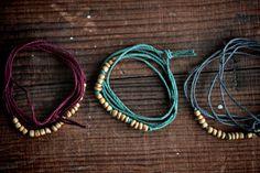 Naturalist Bead Strand  Burgundy by jonesingforjewelry on Etsy