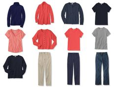 The Vivienne Files: A Common Wardrobe: A Variation of the standard, in navy and coral