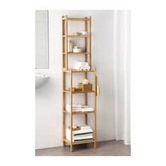 Home RÅGRUND Shelving unit IKEA Perfect in a small bathroom. Bamboo is a hardwearing natural material.