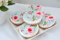 Dainty Delights, Inc. I love the gum paste flower added to the cookie.