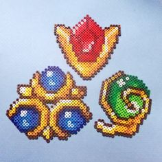 Legend of Zelda: Spiritual stones perler beads