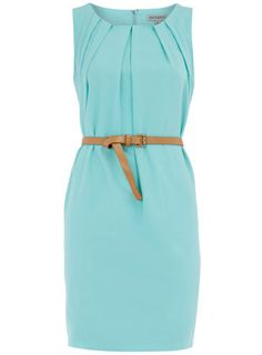 Peach sleevless belted dress - Day Dresses - Dresses - Dorothy Perkins from Dorothy Perkins. Saved to Clothes - day - Neutrals & pastels. Cute Dresses, Cute Outfits, Dresses For Work, Dresses Dresses, Peach Dresses, Formal Dresses, Look Fashion, Fashion Beauty, Belted Dress