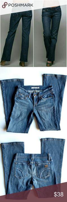 "Joe's Provocateur Jeans 5 pockets,  zipper closure and single button, belt loops.  13"" waist,  7.5"" front rise,  29"" inseam.  In excellent condition. Joe's Jeans Jeans Boot Cut"